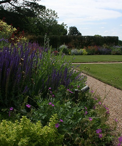 large formal gardens with herbaceous perennials