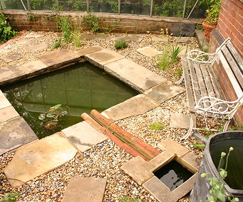 small garden design ideas rain water capture and overflow